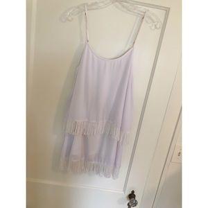 Show Me Your Mumu White Fringy Dress ☁️